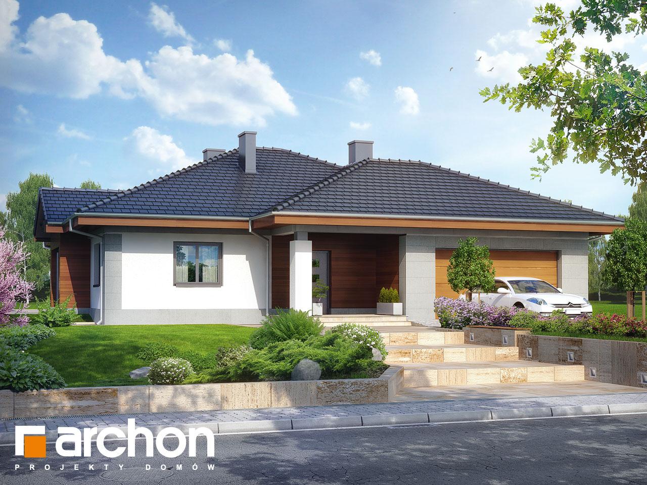 Проект будинку ARCHON+ Будинок в лобо (Г2) ver.2 Вид 2