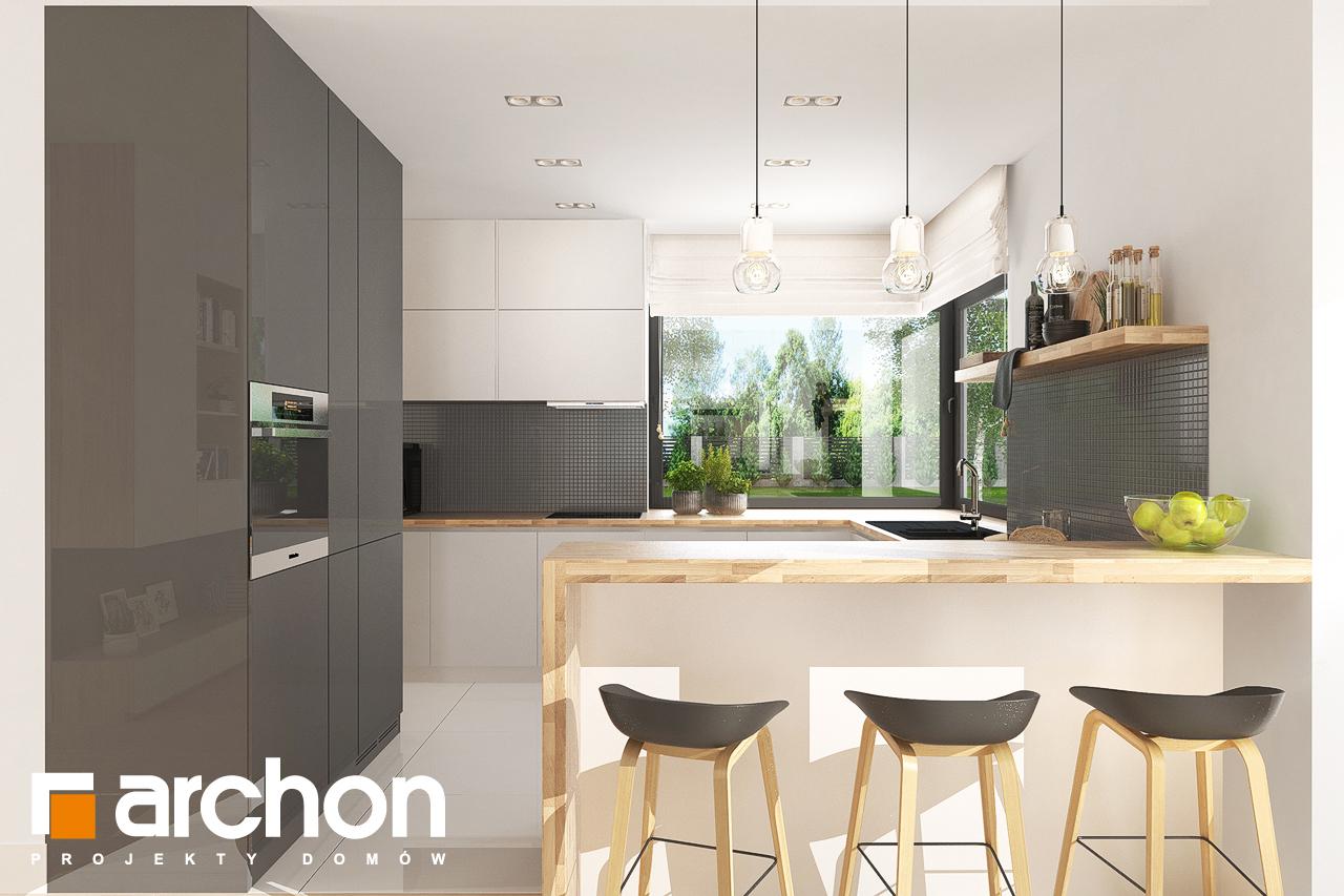 Проект будинку ARCHON+ Будинок в джонагольдах 4 (Г2) візуалізація кухні 1 від 1