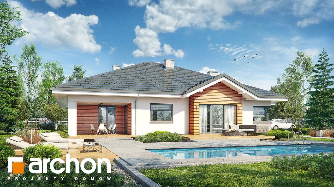 Проект будинку ARCHON+ Будинок в лобо 4 (Г2) Вид 2
