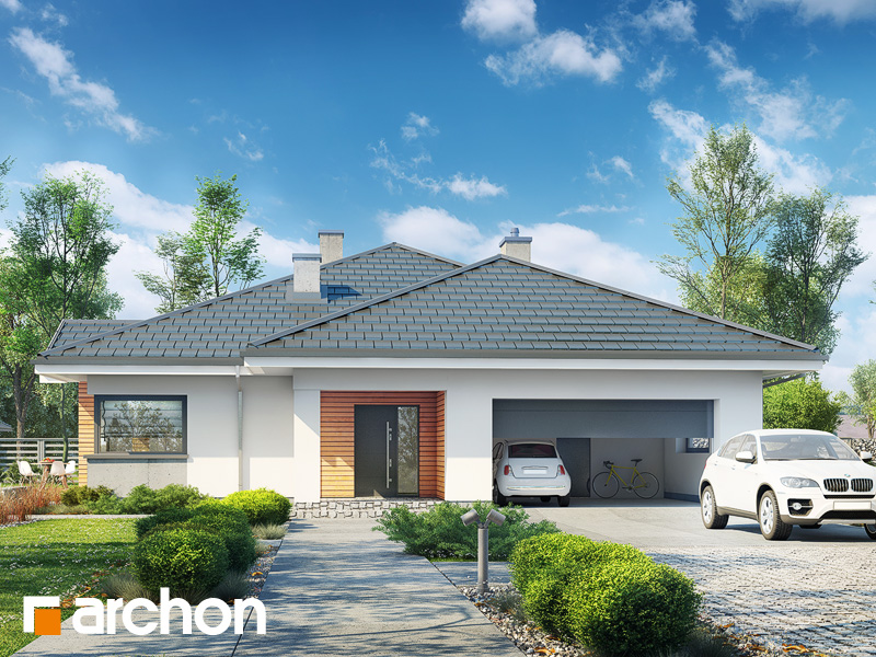 Проект будинку ARCHON+ Будинок в лобо 4 (Г2) Вид 1