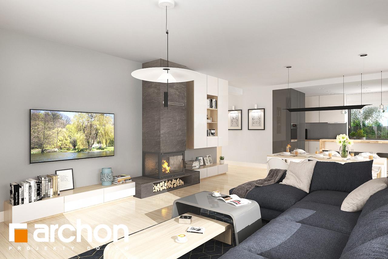 Проект будинку ARCHON+ Будинок в джонагольдах 4 (Г2) денна зона (візуалізація 1 від 3)