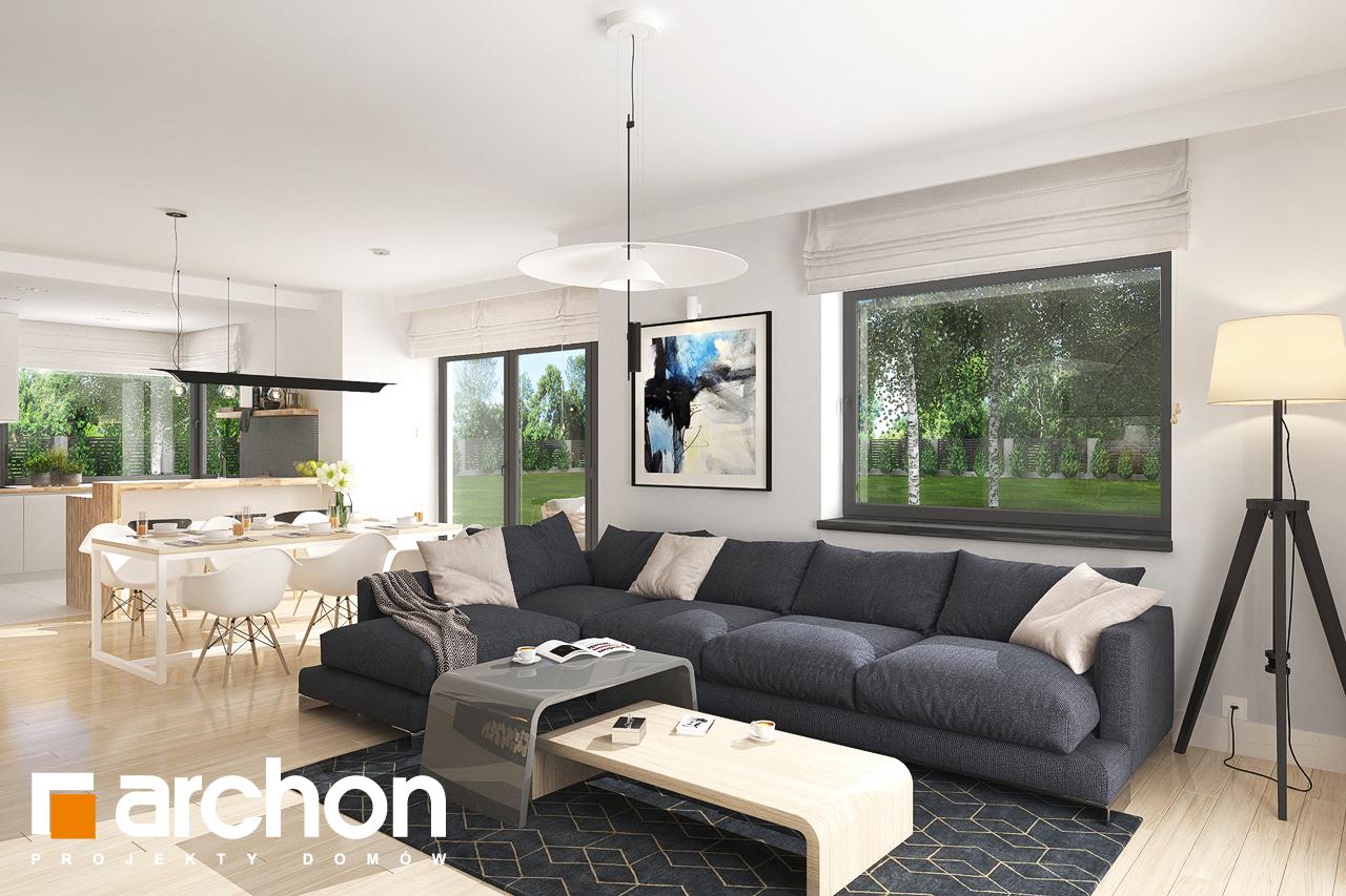 Проект будинку ARCHON+ Будинок в лобо 4 (Г2) денна зона (візуалізація 1 від 2)