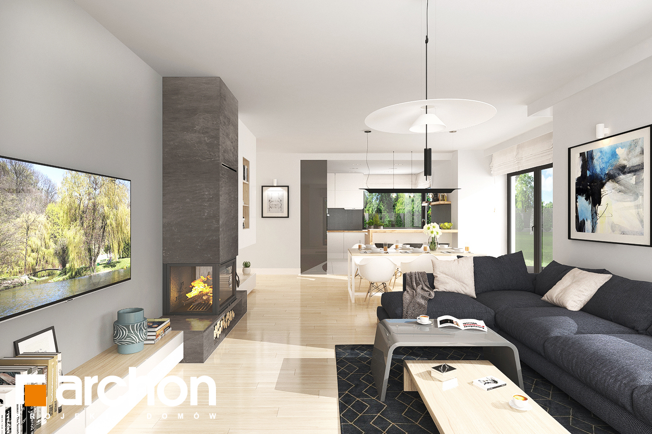 Проект будинку ARCHON+ Будинок в лобо 4 (Г2) денна зона (візуалізація 1 від 5)
