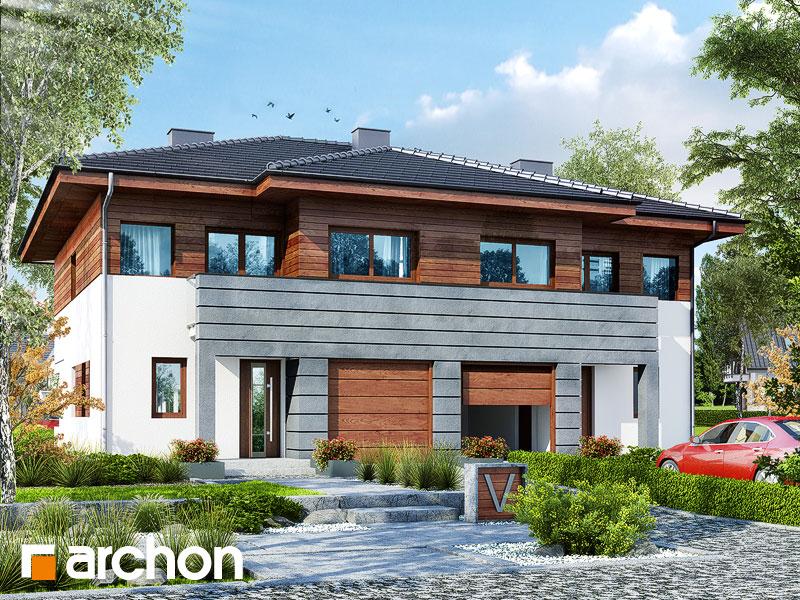 Проект будинку ARCHON+ Вілла Юлія (Б) візуалізація усіх сегментів