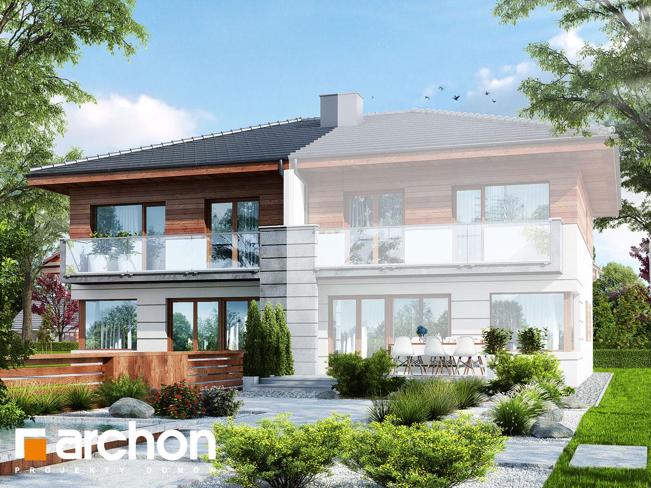 Проект будинку ARCHON+ Вілла Юлія (Б) Вид 2