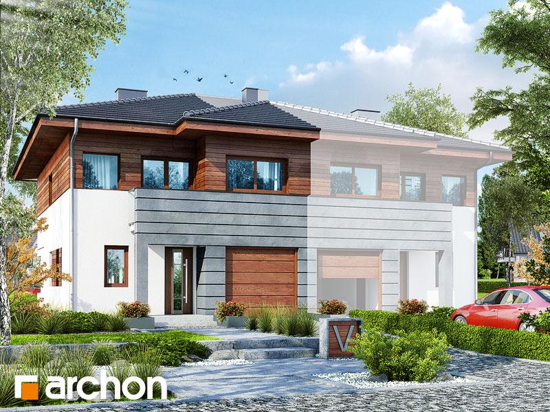 Проект будинку ARCHON+ Вілла Юлія (Б) Вид 1