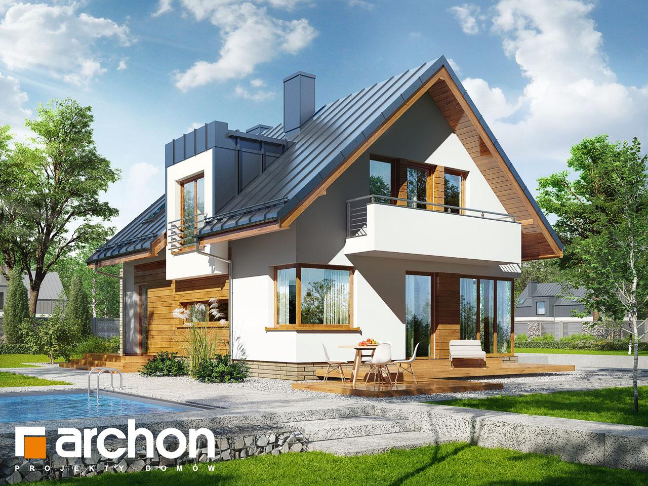 Проект будинку ARCHON+ Будинок в амарилісах вер.2 Вид 2
