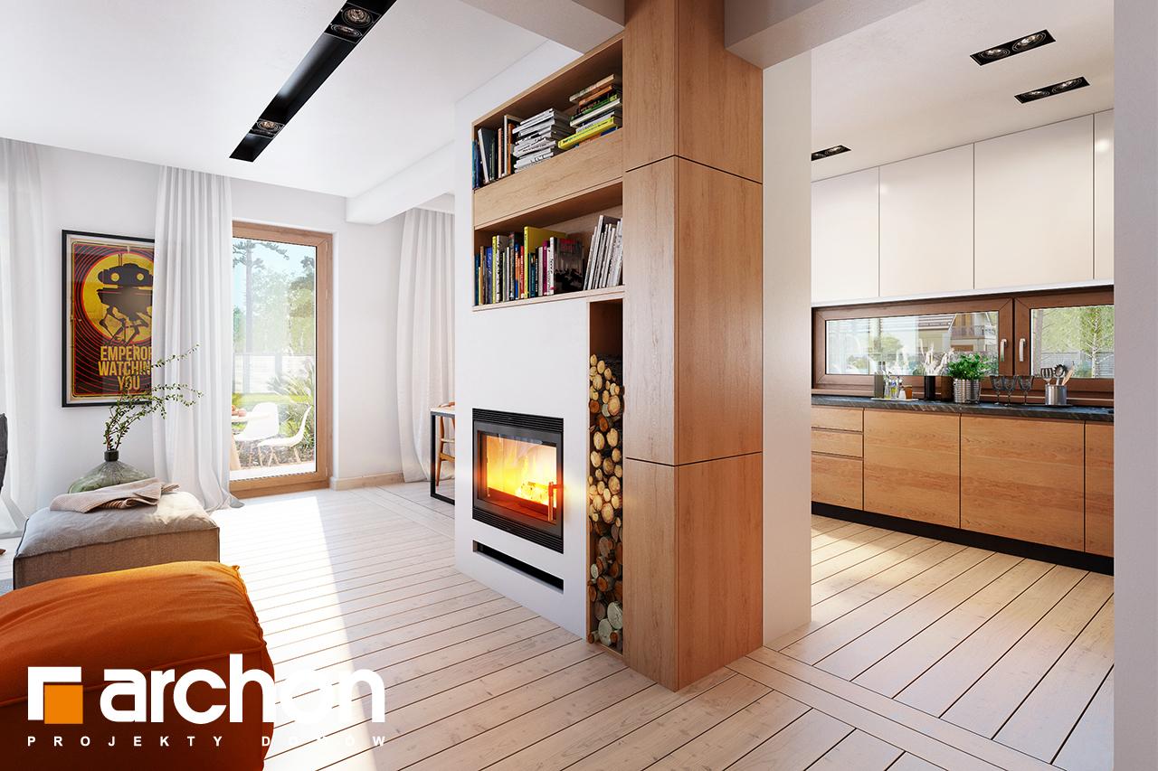 Проект будинку ARCHON+ Будинок в амарилісах вер.2 денна зона (візуалізація 1 від 4)