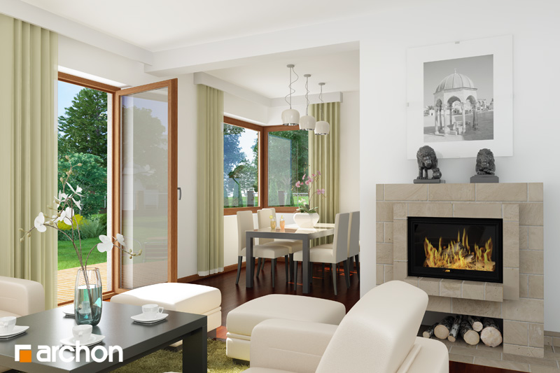 Проект будинку ARCHON+ Будинок в амарилісах вер.2 денна зона (візуалізація 1 від 6)