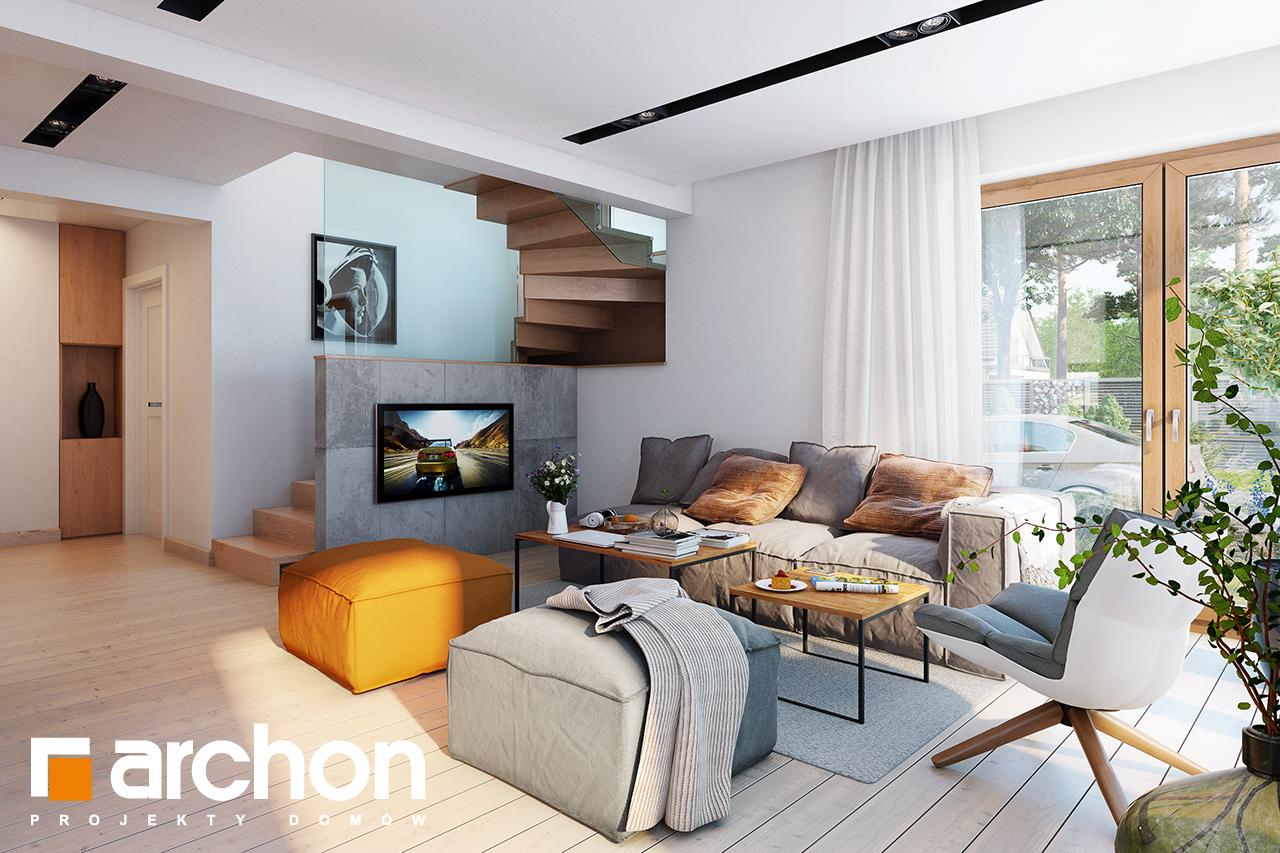 Проект будинку ARCHON+ Будинок в амарилісах вер.2 денна зона (візуалізація 1 від 3)
