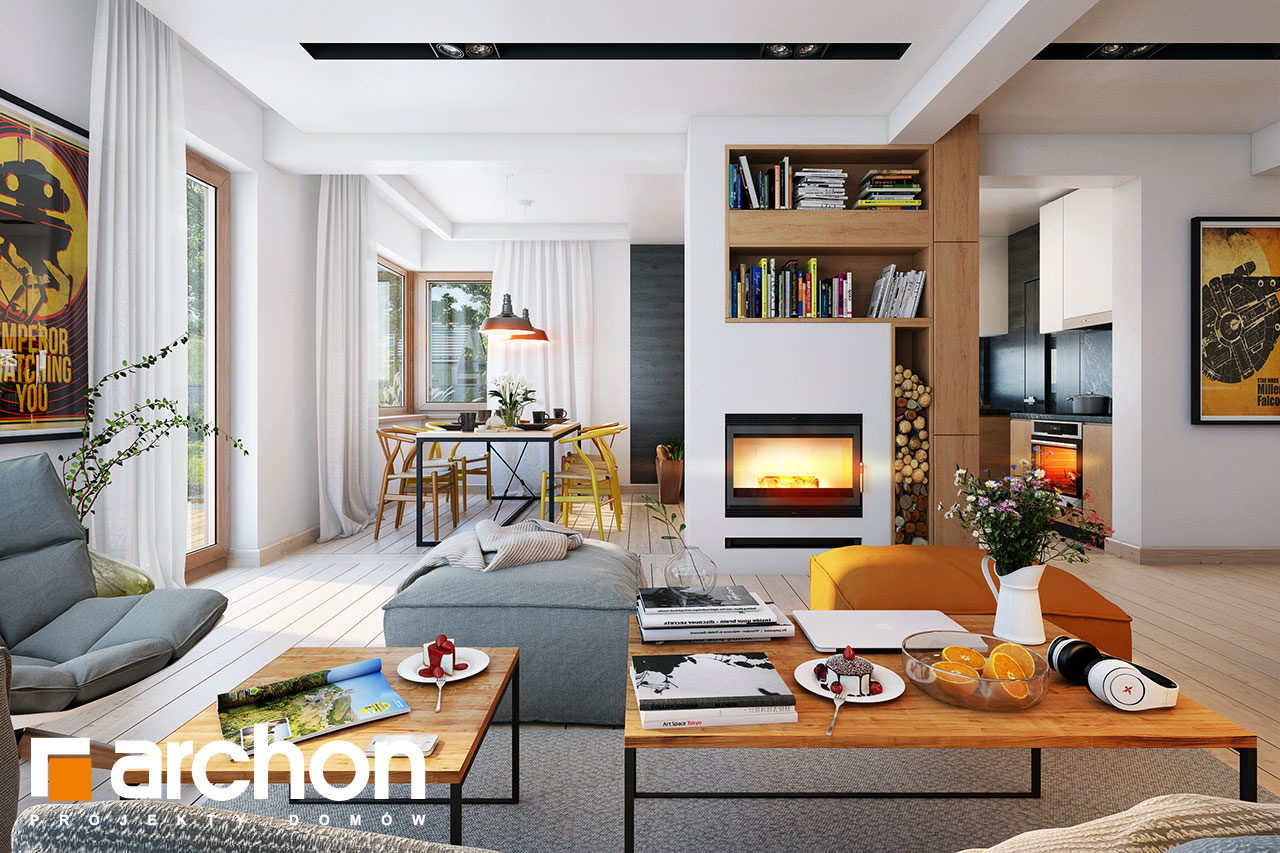 Проект будинку ARCHON+ Будинок в амарилісах вер.2 денна зона (візуалізація 1 від 1)