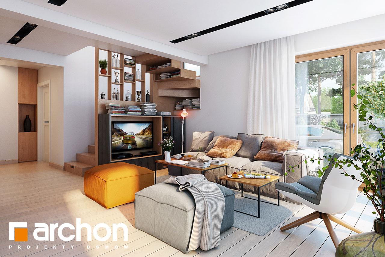 Проект будинку ARCHON+ Будинок в амарилісах вер.2 денна зона (візуалізація 1 від 2)
