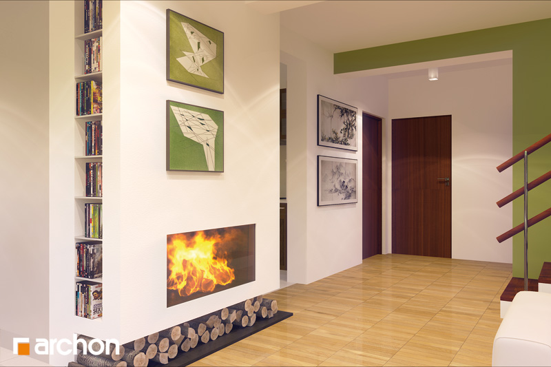 Проект будинку ARCHON+ Будинок в амарилісах вер.2 денна зона (візуалізація 2 від 2)