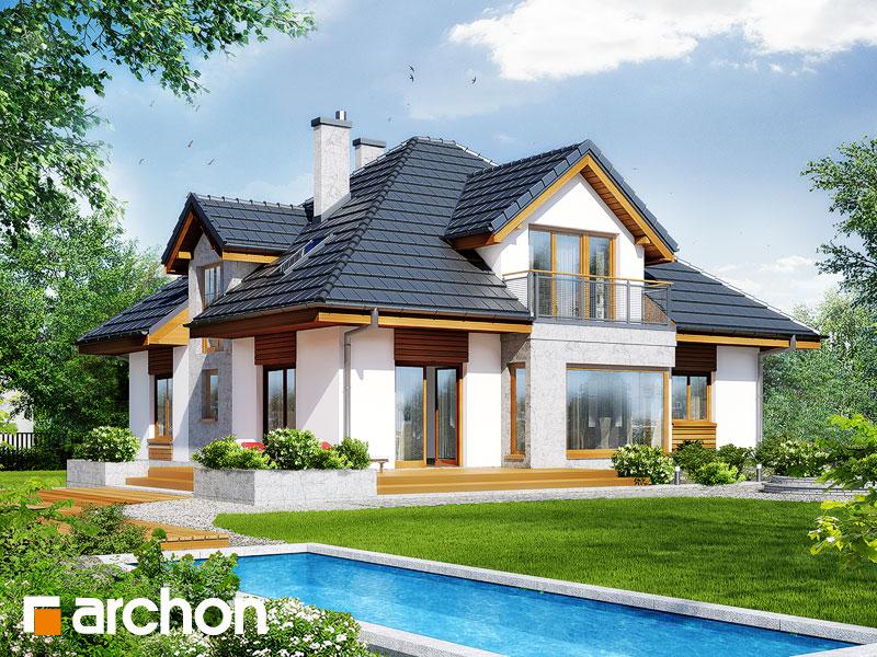 Проект будинку ARCHON+ Будинок в тим'яні 3 вер.2 стилізація 4