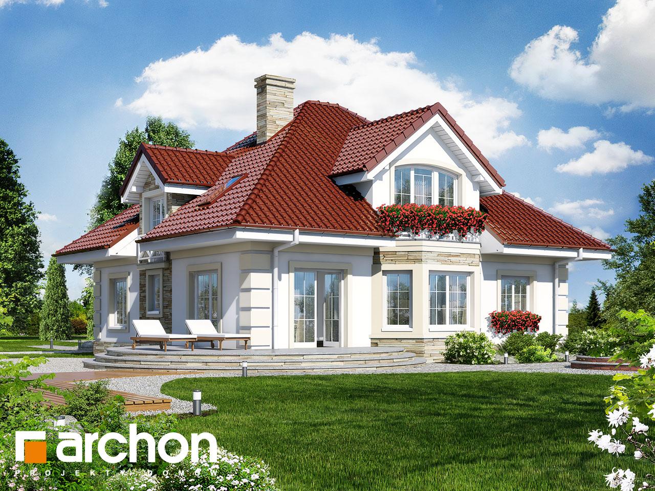 Проект будинку ARCHON+ Будинок в тим'яні 3 вер.2 Вид 2