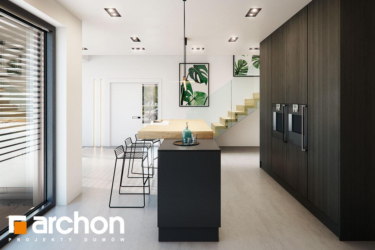 Проект дома ARCHON+ Дом в аромах (Г2) визуализация кухни 1 вид 2