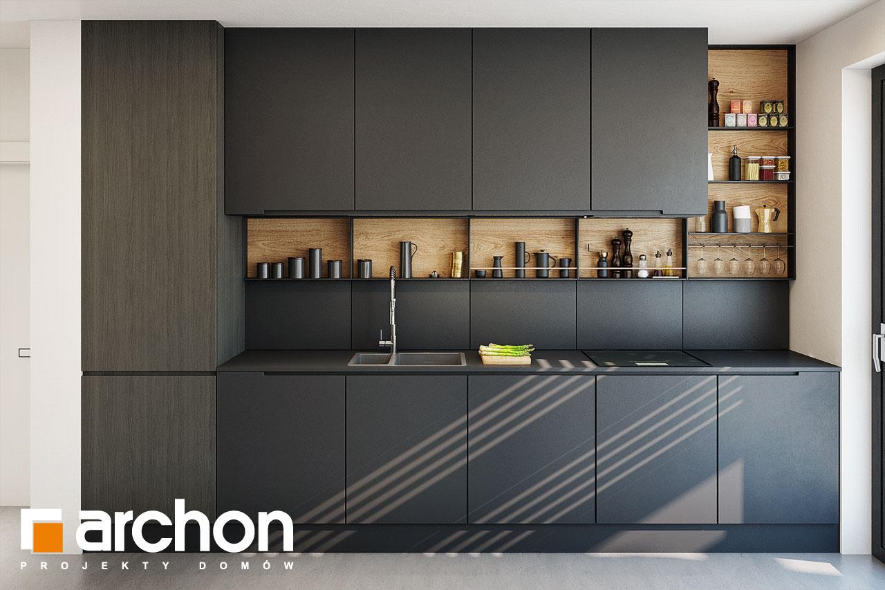 Проект дома ARCHON+ Дом в аромах (Г2) визуализация кухни 1 вид 4