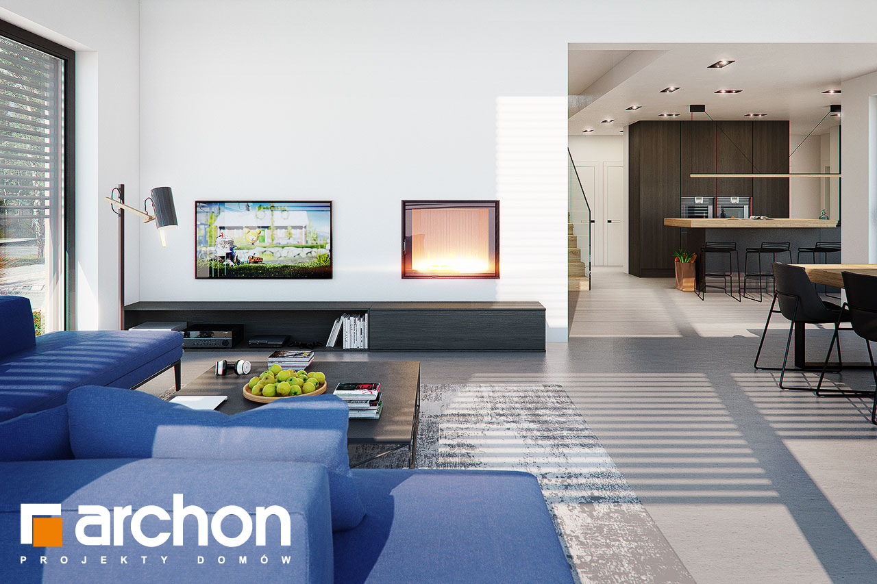 Проект дома ARCHON+ Дом в аромах (Г2) дневная зона (визуализация 1 вид 1)