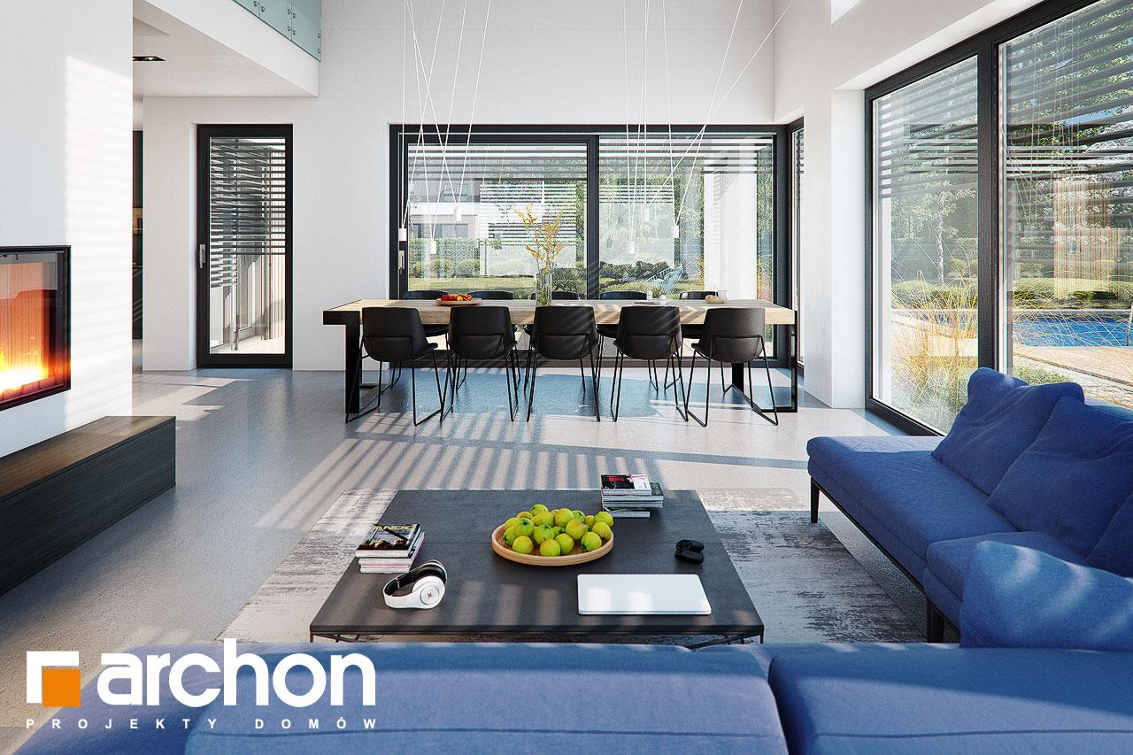 Проект дома ARCHON+ Дом в аромах (Г2) дневная зона (визуализация 1 вид 2)