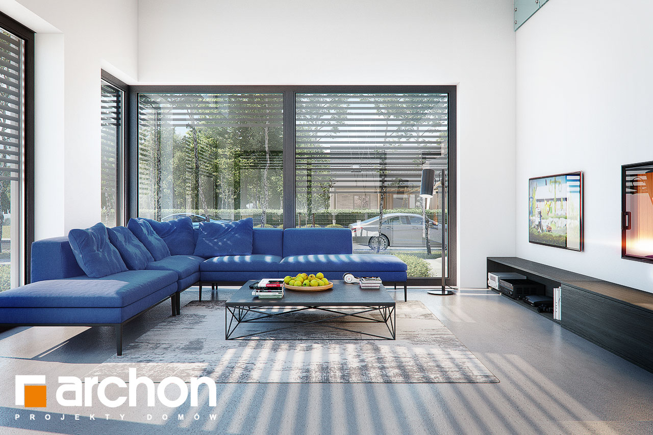 Проект дома ARCHON+ Дом в аромах (Г2) дневная зона (визуализация 1 вид 3)