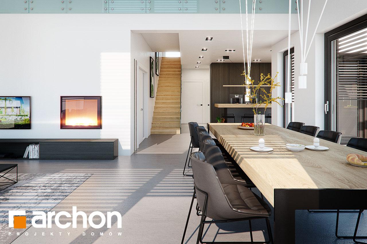 Проект дома ARCHON+ Дом в аромах (Г2) дневная зона (визуализация 1 вид 4)