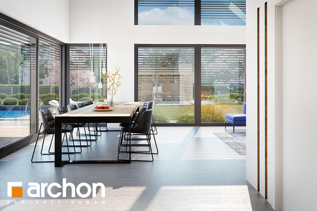 Проект дома ARCHON+ Дом в аромах (Г2) дневная зона (визуализация 1 вид 5)