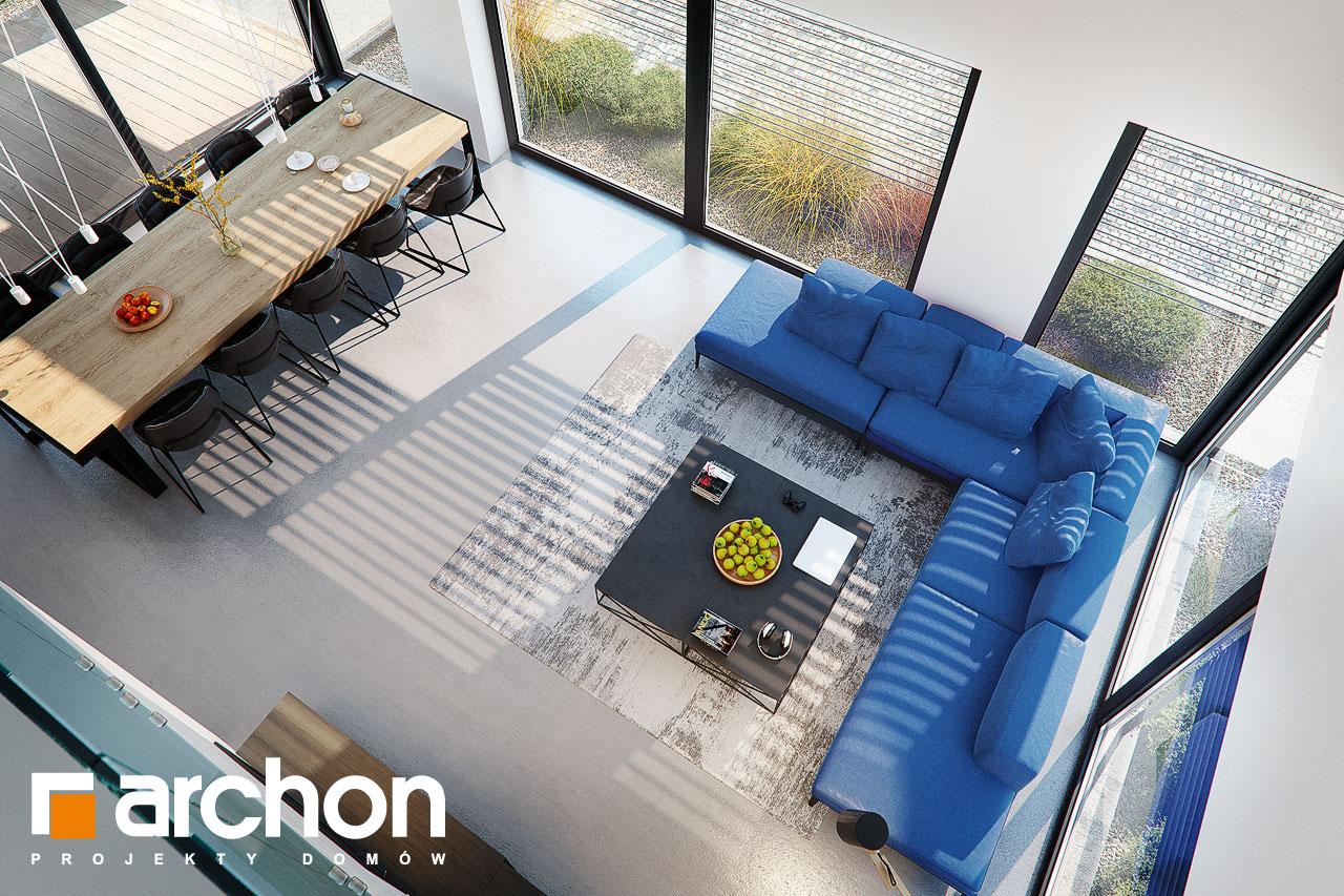 Проект дома ARCHON+ Дом в аромах (Г2) дневная зона (визуализация 1 вид 6)