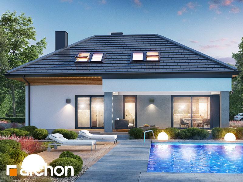 Проект будинку ARCHON+ Будинок в підсніжниках 16 (Г2) Вид 1