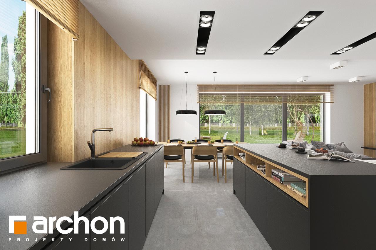 Проект будинку ARCHON+ Будинок в сон-траві 6 (Г) візуалізація кухні 1 від 3