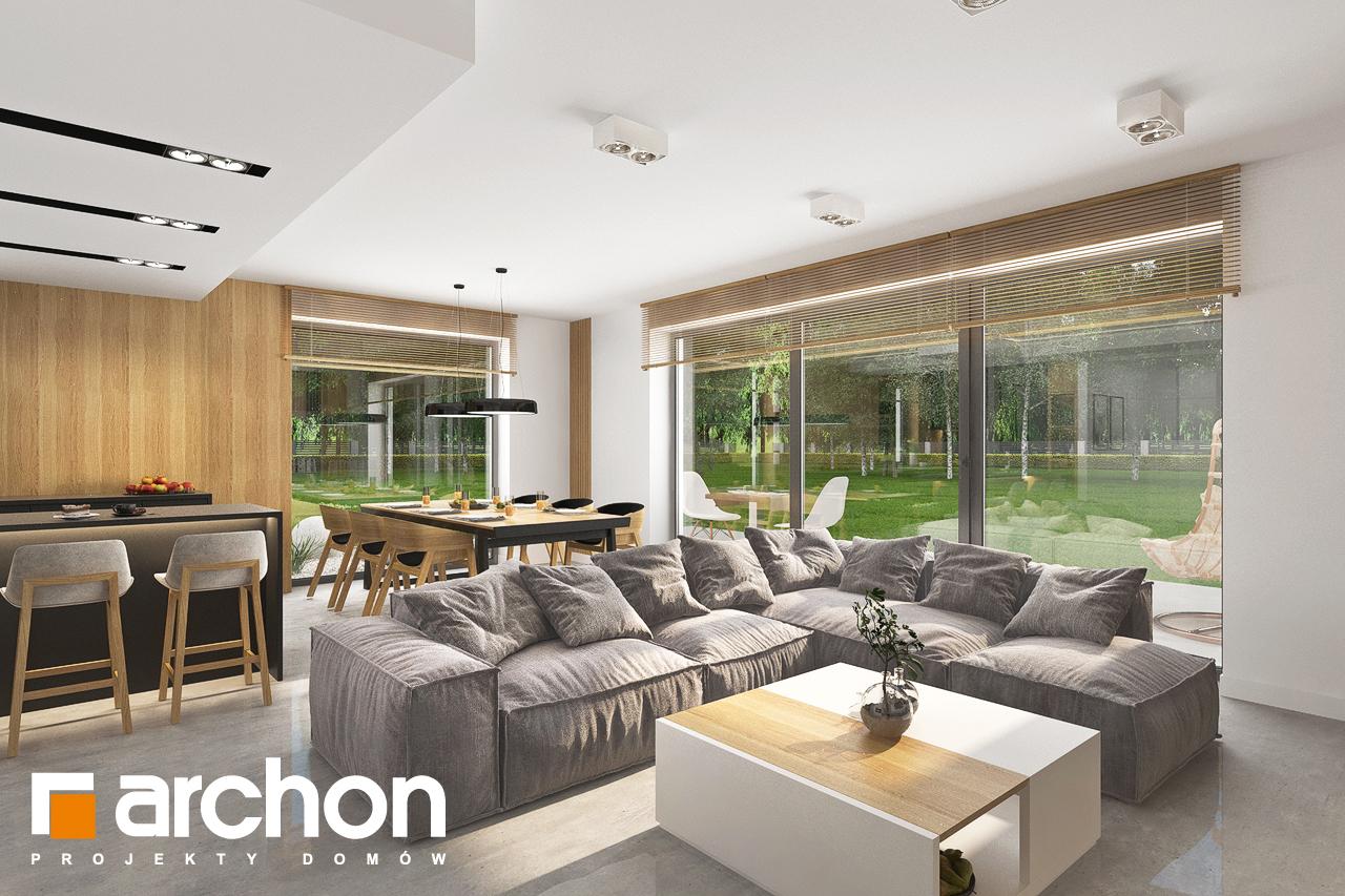 Проект будинку ARCHON+ Будинок в сон-траві 6 (Г) денна зона (візуалізація 1 від 5)