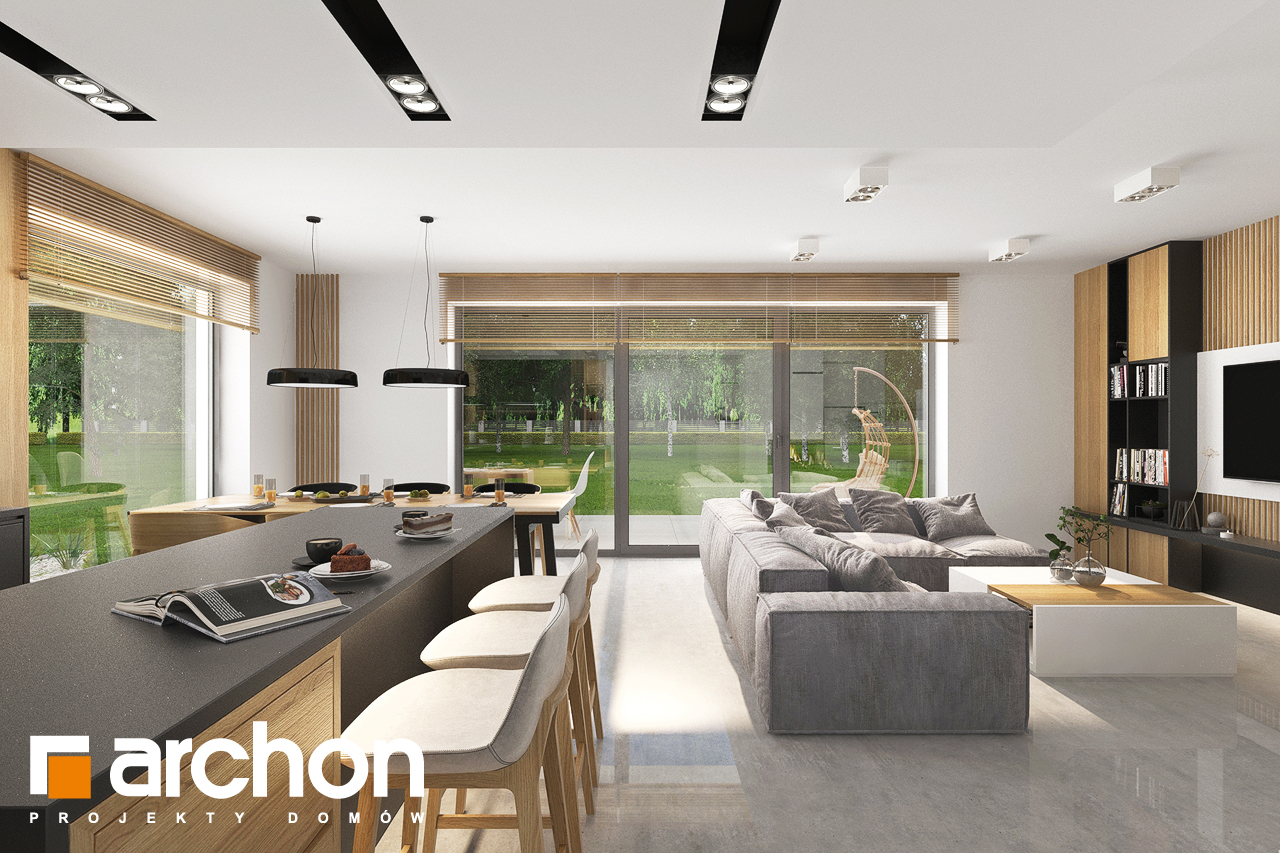 Проект будинку ARCHON+ Будинок в сон-траві 6 (Г) денна зона (візуалізація 1 від 6)