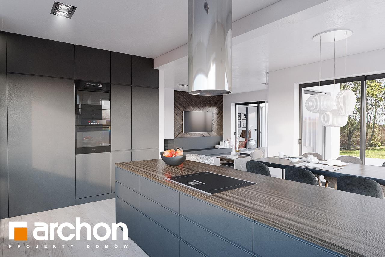 Проект будинку ARCHON+ Будинок в старках (Г2) візуалізація кухні 1 від 2