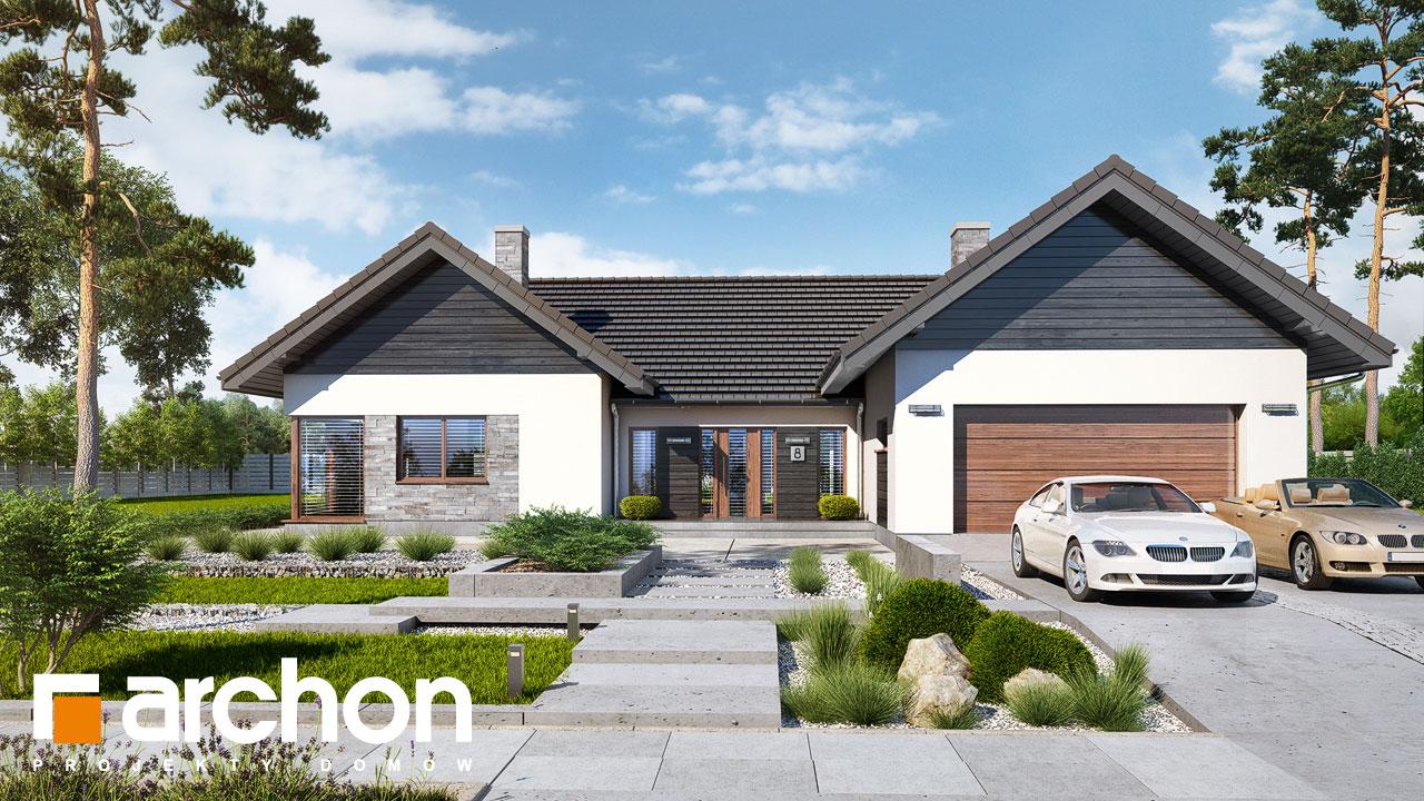 Проект будинку ARCHON+ Будинок в клівіях 4 (Г2) Вид 2