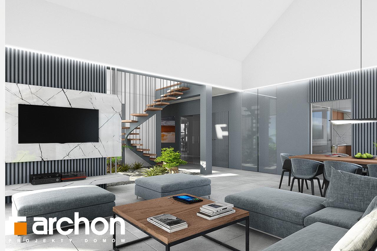 Проект будинку ARCHON+ Будинок в клівіях 4 (Г2) денна зона (візуалізація 1 від 1)