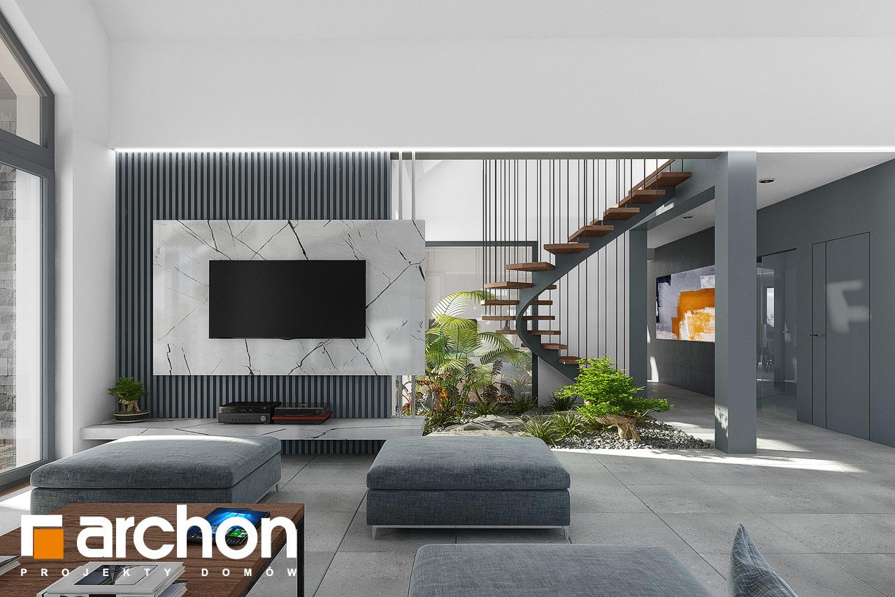 Проект будинку ARCHON+ Будинок в клівіях 4 (Г2) денна зона (візуалізація 1 від 2)