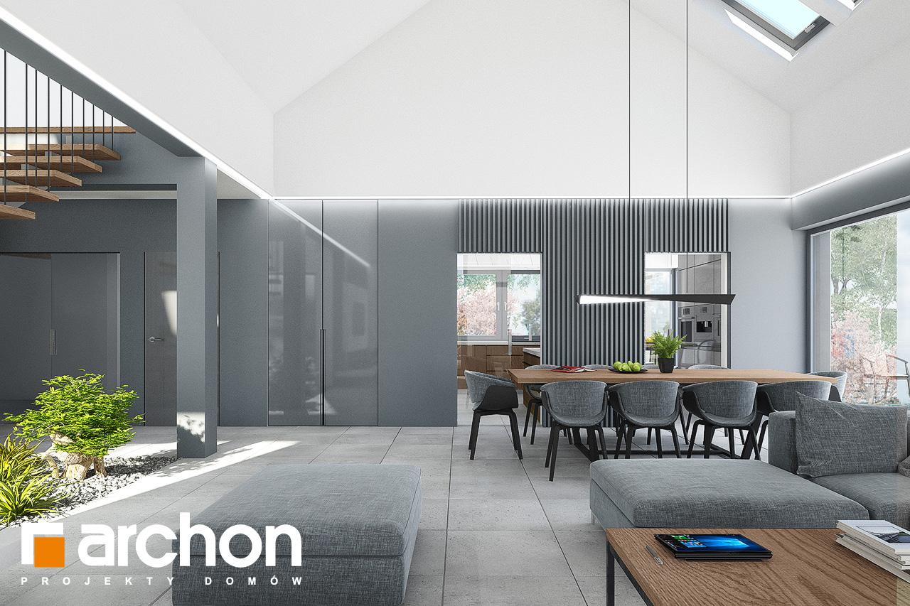 Проект будинку ARCHON+ Будинок в клівіях 4 (Г2) денна зона (візуалізація 1 від 4)