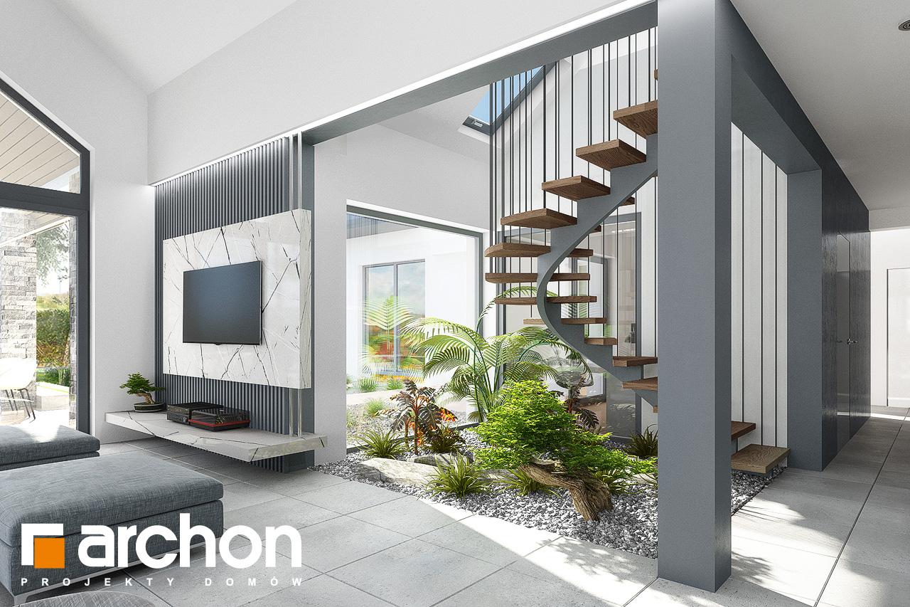 Проект будинку ARCHON+ Будинок в клівіях 4 (Г2) денна зона (візуалізація 1 від 7)