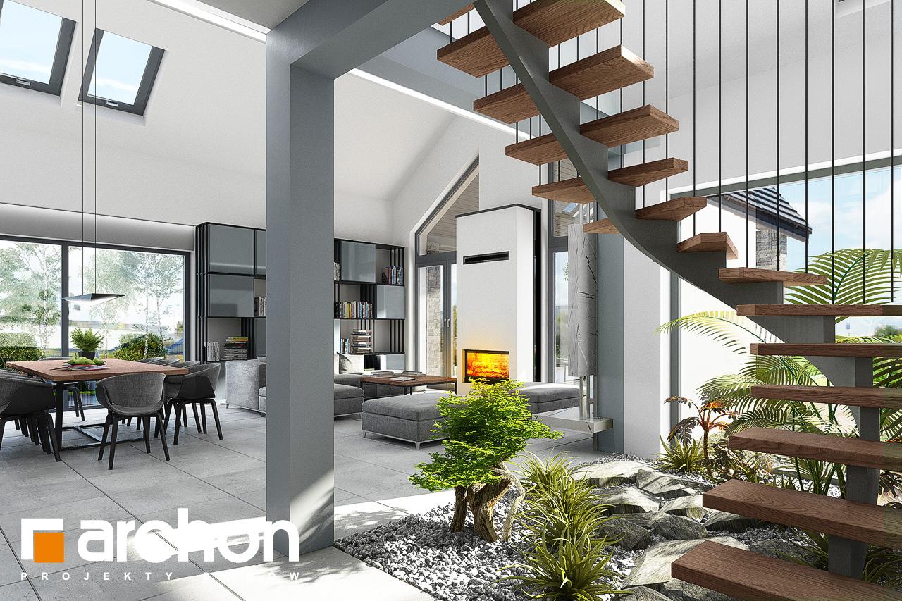 Проект будинку ARCHON+ Будинок в клівіях 4 (Г2) денна зона (візуалізація 1 від 8)