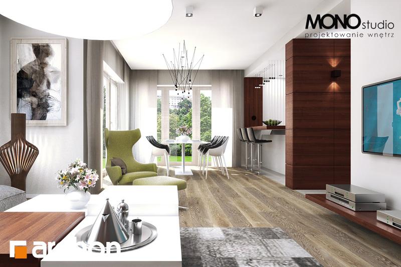 Проект будинку ARCHON+ Будинок в орлішках денна зона (візуалізація 2 від 3)