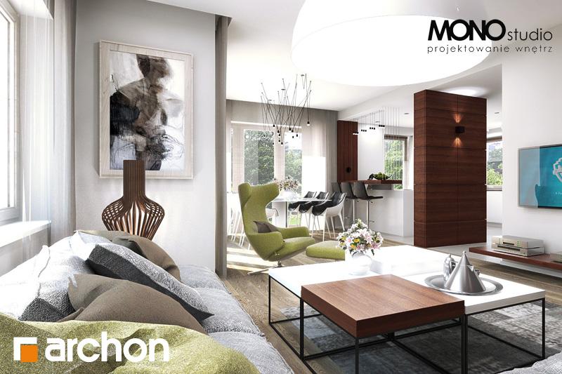 Проект будинку ARCHON+ Будинок в орлішках денна зона (візуалізація 2 від 4)