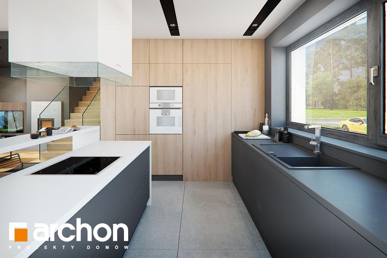 Проект будинку ARCHON+ Будинок в мандевілі 2 візуалізація кухні 1 від 3