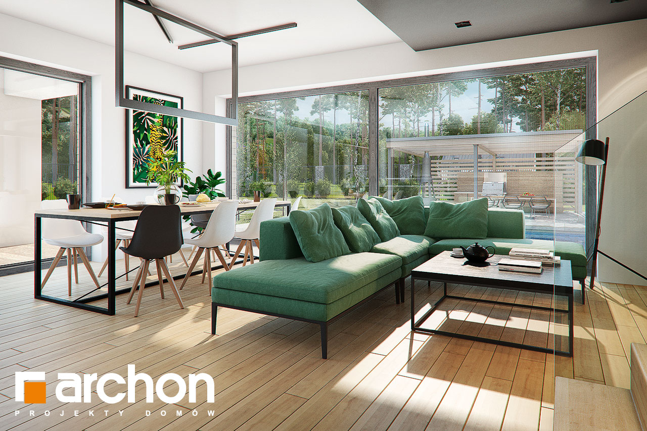 Проект будинку ARCHON+ Будинок в мандевілі 2 денна зона (візуалізація 1 від 1)