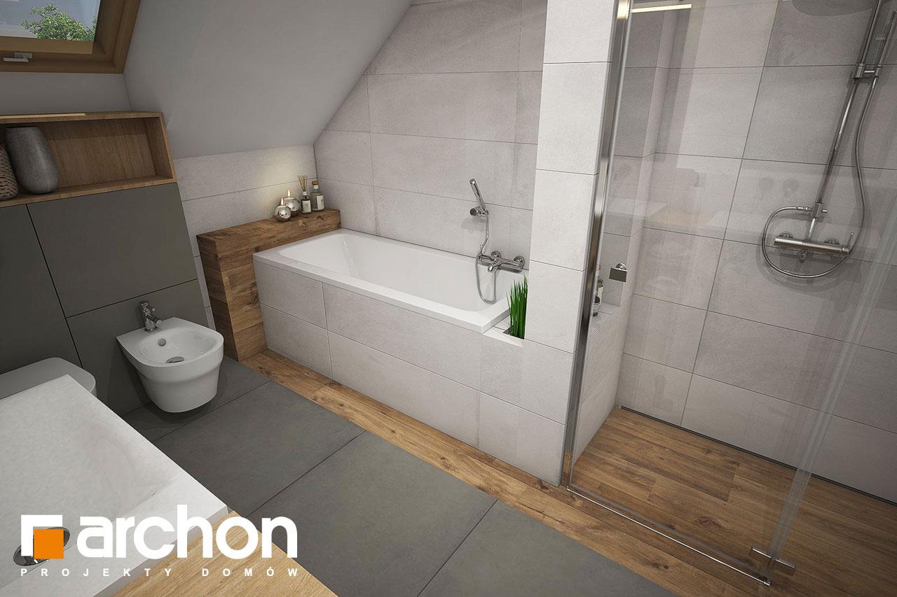 Проект будинку ARCHON+ Будинок в червоних кущах (Г2) візуалізація ванни (візуалізація 3 від 2)
