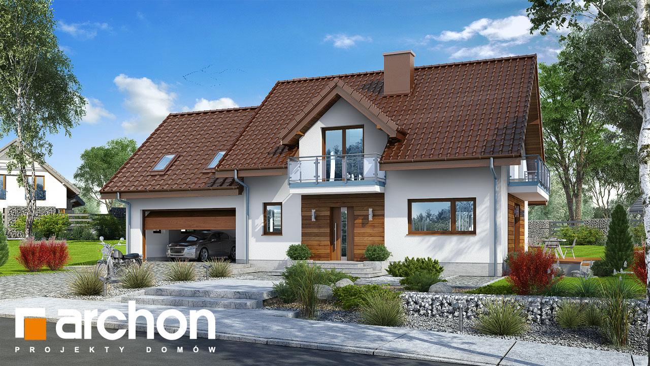 Проект будинку ARCHON+ Будинок в червоних кущах (Г2) стилізація 3