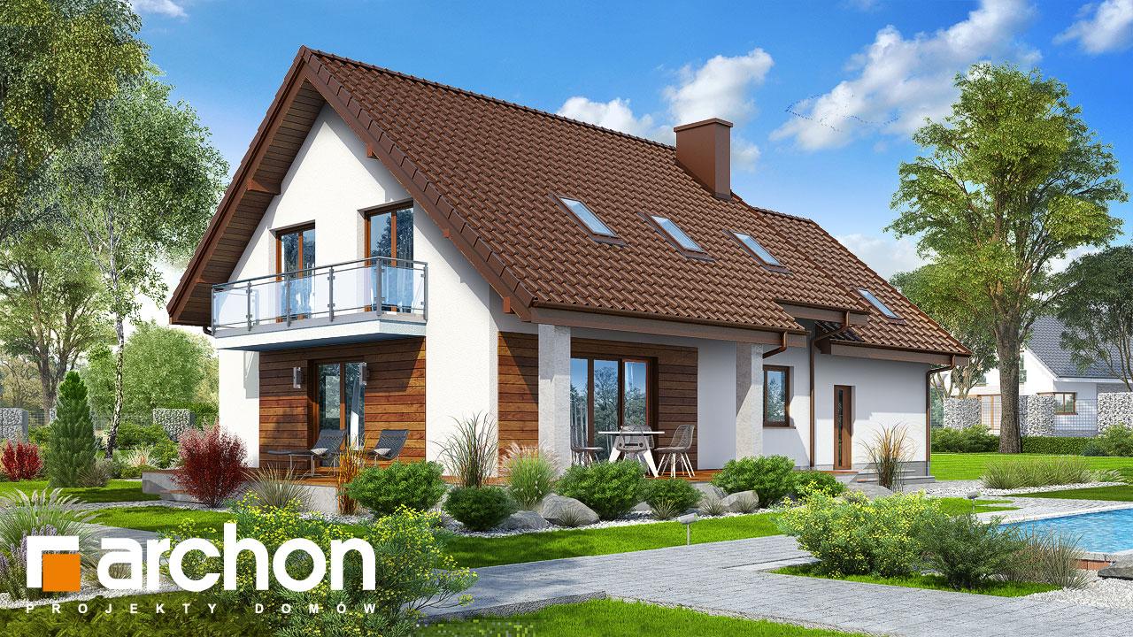 Проект будинку ARCHON+ Будинок в червоних кущах (Г2) стилізація 4