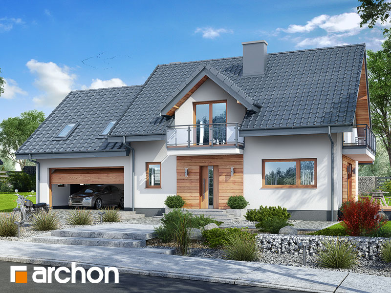 Проект будинку ARCHON+ Будинок в червоних кущах (Г2) Вид 1