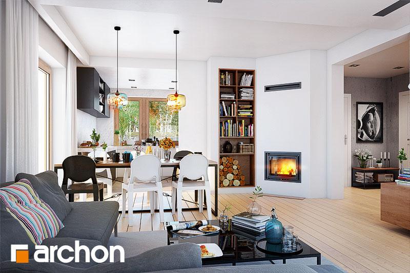 Проект будинку ARCHON+ Будинок в червоних кущах (Г2) денна зона (візуалізація 1 від 1)
