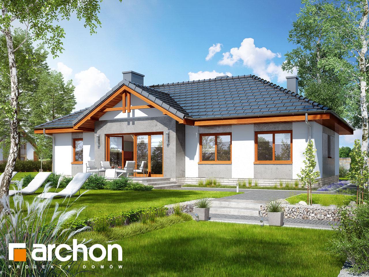 Проект будинку ARCHON+ Будинок в нерінах 5 Вид 2