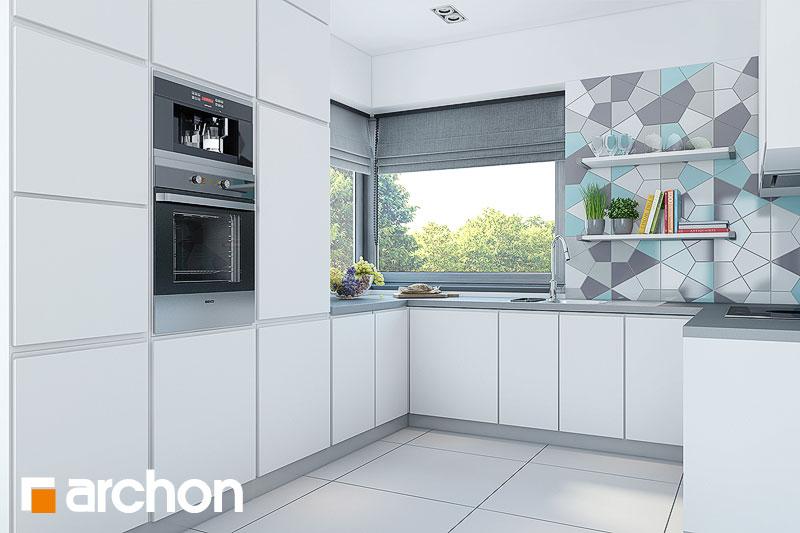 Проект дома ARCHON+ Дом в малиновках (Т) визуализация кухни 1 вид 1