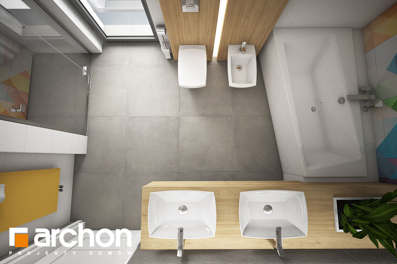 Проект дома ARCHON+ Дом в малиновках (Т) визуализация ванной (визуализация 3 вид 4)